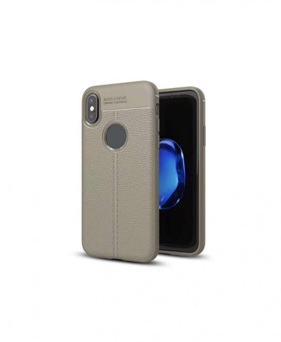 Husa Luxury Soft TPU Lychee Samsung Galaxy J5 (2017) J530 Gri