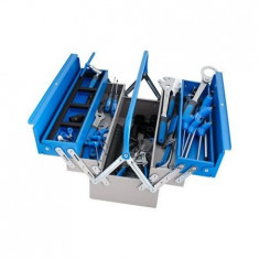 Set de scule Unior de bicicleta in cutie metalica 37 bucati