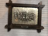 Tablou din zinc ,rama lemn