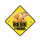 Semn auto Bebe la Bord - Winnie the Pooh SEV9628 Children SafetyCare