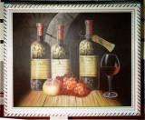 Tablou pictat manual pe panza in ulei A-447, Natura, Realism