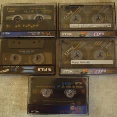 Lot 5 Casete Audio TDK si FUJI CrO2 - Inregistrate o singura data - 20
