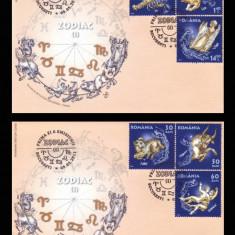 2011 Romania, 2 FDC Zodiac (I) LP 1900, Horoscop plicuri prima zi