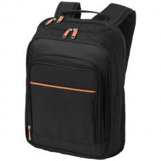 Rucsac Laptop, Everestus, HM, 14 inch, 600D poliester, negru, saculet de calatorie si eticheta bagaj incluse