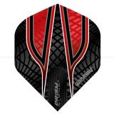 Fluturas darts Winmau ALPHA standard negru/rosu