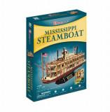 Cumpara ieftin Puzzle 3D - Nava Mississippi Steamboat Usa, 142 piese, CubicFun