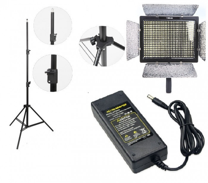 KIT lumina continua Lampa Yongnuo YN600L+ stativ+ alimentator