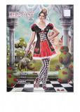 Costum dama de inima, marimea S/M, multicolor