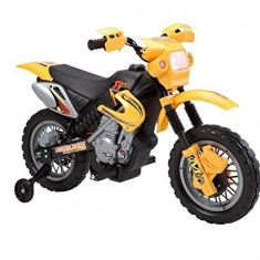 Motocicleta electrica pentru copii Enduro 30W | 6V #Galben
