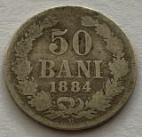 50 Bani 1884, Argint, Romania