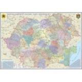 Romania si Republica Moldova. Harta administrativa (700x500mm), fara sipci (GHRA70-L) | arhiva Okazii.ro