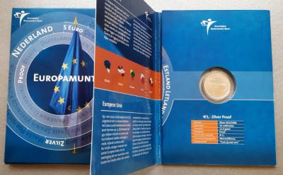 Moneda tematica de argint 925 - 5 Euro 2004, Olanda - Proof foto
