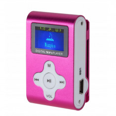MP3 Player Quer, functie de reportofon, afisaj digital, roz