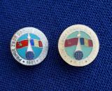 2 Insigne Aviatie - Cosmonautica - 1981 - Primul zbor cosmic sovieto - roman