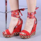 Sandale dama Tarika rosii