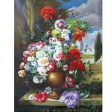 Kit pictura pe numere cu flori, DZ1285