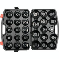 Set de chei tubulare pentru filtru de ulei 30 piese YATO