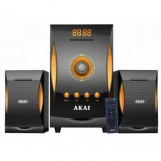 Sistem boxe 2.1 akai bluetooth mp3/fm/sd 18w+10wx2 negre ss032a-3515