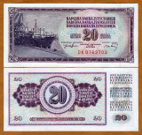 = IUGOSLAVIA - 20 DINARA – 1974 – UNC   =