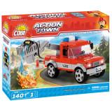 Cumpara ieftin Set de construit Cobi, Fire Brigade, Articulated Boom Fire Truck (140 pcs)