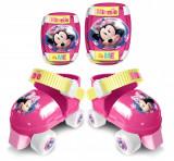 Set patine cu rotile si accesorii protectie Disney Minnie, Marime 23-27