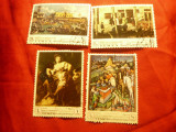 Serie mica Yemen 1968 - Pictura - UNESCO , 4 val. stampilate, Stampilat
