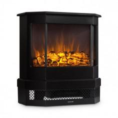 Klarstein KLARSTEIN CASTILLO, negru, șemineu electric, simulare halogenă a focului