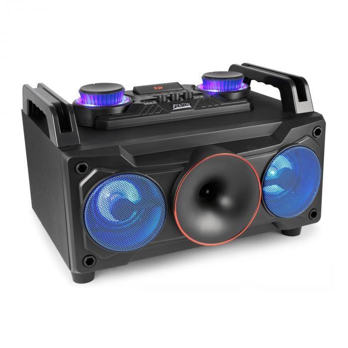 """Fenton MDJ110, media player, usb, sd, bluetooth, aux-in, amplificator 120 W, woofer de 6,5 """", RGB led"""