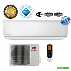 Aparat aer conditionat Gree GWH12AAB-K6DNA4A Gama Bora A4 Inverter 12000BTU Clasa A++ Wi-Fi Silver + Kit instalare inclus, 12000 BTU, A++, Standard
