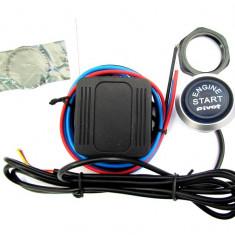 Kit buton pornire motor ES02 cu lumina Rosie ManiaCars