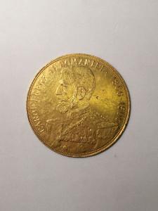 ROMANIA - 50 Lei 1906 . Moneda jubiliara aur. Rara !