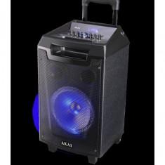 Boxa portabila akai abts-aw12 cu bluetooth si microfon wireless outputpower:40w