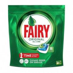 Tablete detergent pentru masina de spalat vase capsule Fairy Original All in One, 16 bucati