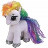 Jucarie de plus Beanie Boos STARR - white pony/ponei alb, 15cm, TY 36664
