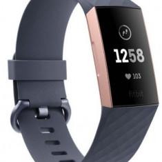 Bratara Fitness Fitbit Charge 3 (Gri/Roz-Auriu)