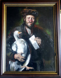 16 Evreu cu petitie Inerpretare pictura dupa pictorul Nicolae Grigorescu 45x57cm