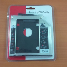 Hdd caddy adaptor unitate optica la hard disk SATA 9.5mm