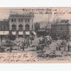 C.P ilustrata-Bucuresti 1903-Piata Sf Anton,circulata 13 febr 1903