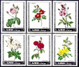 Ajman 1969 - Flori, trandafiri, serie neuzata