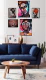 Cumpara ieftin Set 5 tablouri decorative African, Heinner
