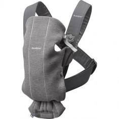 Marsupiu Anatomic Mini, cu Pozitii Multiple de Purtare 3D Jersey Dark Grey