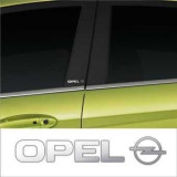 Stickere stalpi usa CHROME - OPEL (set 2 buc.)