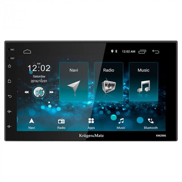 Player auto Kruger Matz, 2 DIN, Android 8.1, comenzi pe volan, microfon, EasyConnection