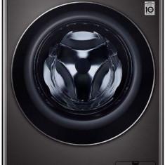 Masina de spalat rufe LG F4WV910P2S, 10.5 kg, 1400 RPM, Motor Direct Drive, Turbo Wash 360, Steam +, Smart Diganosis, WiFi, Clasa A+++ (Negru)