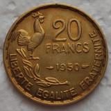 Moneda ISTORICA 20 FRANCI - FRANTA, anul 1950  *cod 482 A