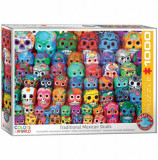 Cumpara ieftin Puzzle Eurographics - Traditional Mexican Skulls, 1000 piese