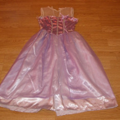 costum carnaval serbare rochie printesa barbie pentru copii de 4-5-6 ani