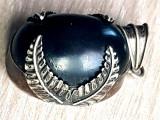 Medalion argint 925 PIATRA NATURALA ONIX - bijuterii vintage