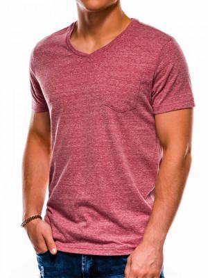 Tricou barbati S1045 - rosu-inchis foto