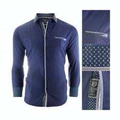 Camasa pentru barbati, bleumarin, Slim fit, casual, cu guler - Formia Special, L, M, S, XL, XXL, Maneca lunga